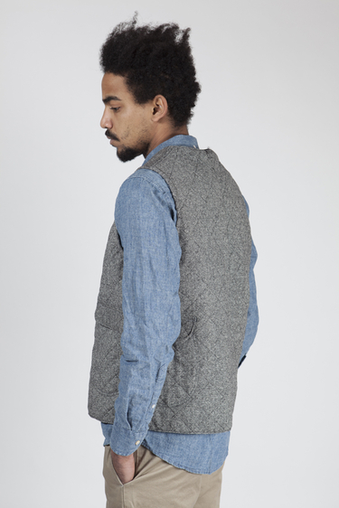 Tres Bien Shop Post Overalls Donegal Tweed Vest