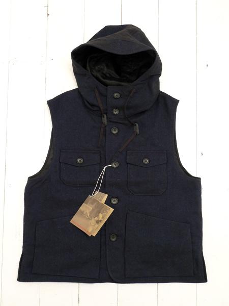 Woolrich Woolen Mills Navy Wool Denim Field Vest