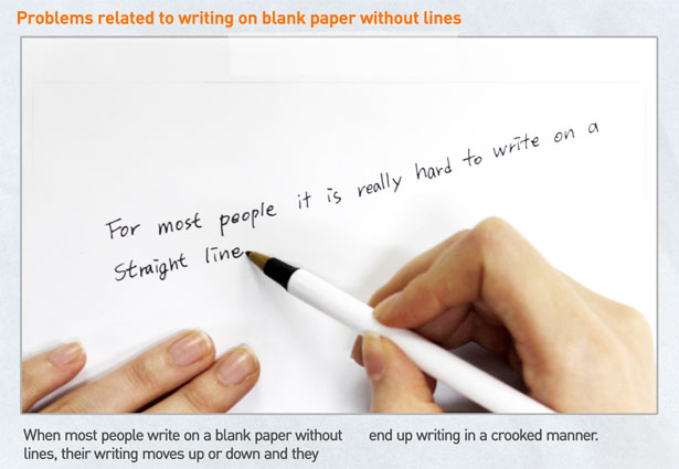 Laser Cap Creates Lined Paper Effect to Help You Witing in A - lined paper to type on