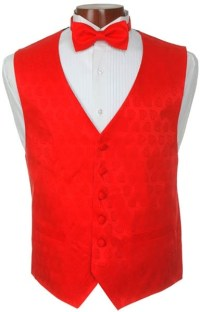 Red Heart Vest and Bow Tie Set