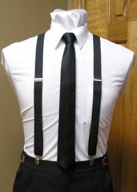 Black Suspender Men's 1-Inch X Back Clip Suspender With ...