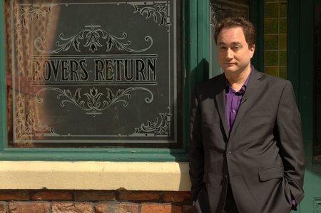 Mark Critch visits Coronation Street