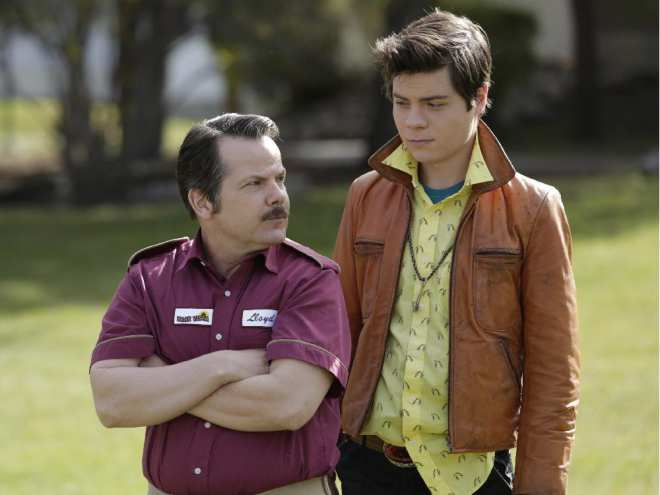 """Actors Bruce McCulloch (left) and Atticus Mitchell are shown in a scene from the televsion show """"Young Drunk Punk."""" THE CANADIAN PRESS/HO-Rogers Media-Michelle Faye"""