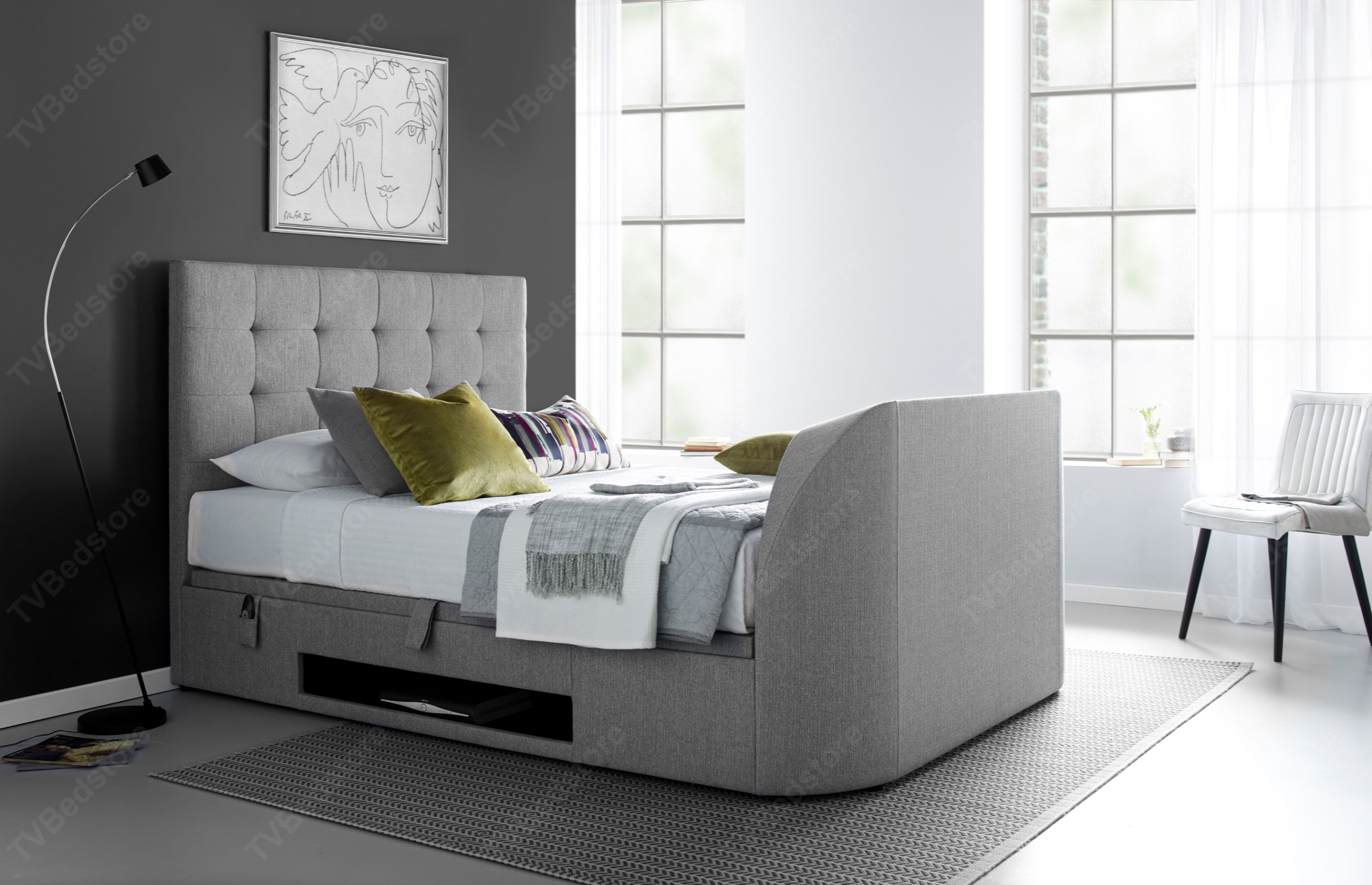 The Barnard Double Tv Bed 0 Finance Available Tv Bed
