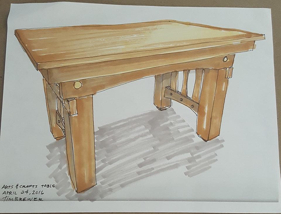 Furniture Design Sketching Timothy Brewer