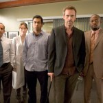 """HOUSE - Hugh Laurie as Dr. House, Peter Jacobson as Dr. Chris Taub, Olivia Wilde as Thirteen, Kal Penn as Dr. Lawrence Kutner, and Omar Epps as Dr. Eric Foreman in """"Games"""""""