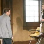 """HOUSE - Hugh Laurie as Dr. House and Anne Dudek as Dr. Amber Volakis in """"Games"""""""