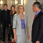 BACKGROUND: ELYES GABEL, MARK VALLEY, DANA DELANY;FOREGROUND: JERI RYAN, RICHARD BURGI