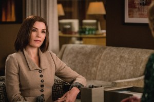 """Monday"" -- Alicia has trouble adjusting when she returns to work at Lockhart, Agos & Lee with Lucca. Their first case, involving a secret new computer tablet, causes a rift within the firm, on THE GOOD WIFE, Sunday, Feb. 14 (9:00-10:00 PM, ET/PT) on the CBS Television Network. Pictured Julianna Margulies as Alicia Florrick Photo:  Michael Parmelee/CBS ©2015 CBS Broadcasting, Inc. All Rights Reserved"