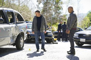 """""""Head of the Snake"""" -- Pictured: Chris O'Donnell (Special Agent G. Callen) and LL COOL J (Special Agent Sam Hanna). After Operational Psychologist Nate Getz (Peter Cambor) fails to check in with Hetty while working undercover on a mission linking organized crime to terrorism, the team learns he is working with an infamous crime leader, on NCIS: LOS ANGELES, Monday, April 11 (9:59-11:00, ET/PT), on the CBS Television Network. Photo: Monty Brinton/CBS ©2016 CBS Broadcasting, Inc. All Rights Reserved."""