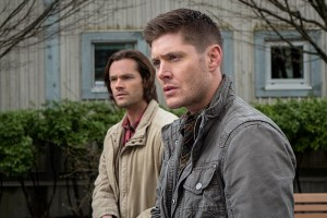 "Supernatural -- ""Don't Call Me Shurley"" -- Image SN1120A_0158.jpg -- Pictured (L-R): Jared Padalecki as Sam and Jensen Ackles as Dean -- Photo: Liane Hentscher/The CW -- © 2016 The CW Network, LLC. All Rights Reserved"