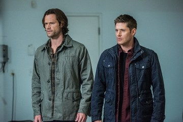 "Supernatural -- ""The One You've Been Waiting For"" -- SN1205a_0243.jpg -- Pictured (L-R): Jared Padalecki as Sam and Jensen Ackles as Dean  -- Photo: Dean Buscher/The CW -- © 2016 The CW Network, LLC. All Rights Reserved"