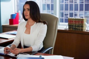 "SUITS -- ""Toe to Toe"" Episode 505 -- Pictured: Meghan Markle as Rachel Zane -- (Photo by: Shane Mahood/USA Network)"