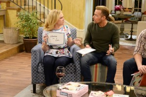 "MELISSA & JOEY - ""Game Night"" - With Ryder home on leave, Mel decides to bring back Family Game Night, pitting her and Joe against Lennox and Zander (guest star Sterling Knight). The competition sends them down memory lane, reminiscing their time together, on all new episode of ""Melissa & Joey,"" airing Wednesday, July 22 (8:00PM ET/PT) on ABC Family. (ABC Family/Eric McCandless)