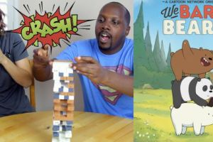 lets play jenga we bare bears