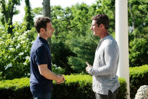 "ROYAL PAINS -- ""Secret Asian Man"" Episode 706 -- Pictured: (l-r) Mark Feuerstein as Dr. Hank Lawson, Michael B. Silver as Keller -- (Photo by: Giovanni Rufino/USA Network)"