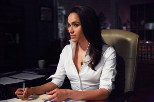 "SUITS -- ""No Puedo Hacerlo"" Episode 504 -- Pictured: Meghan Markle as Rachel Zane -- (Photo by: Shane Mahood/USA Network)"