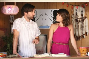 """THE LEAGUE -- """"The Blind Spot"""" -- Episode 703 (Airs Wednesday, September 23, 10:00 pm e/p Pictured: (l-r) Jonathan Lajoie as Taco, Katie Aselton as Jenny. CR: Patrick McElhenney/FX"""