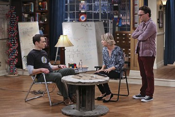 """The 2003 Approximation"" -- Sheldon (Jim Parsons, left) learns of an impending change in his living arrangements and decides to revert back to 2003, a simpler time before he met Leonard (Johnny Galecki, right) and Penny (Kaley Cuoco, center), on THE BIG BANG THEORY, Monday, Oct. 12 (8:00-8:31 PM, ET/PT), on the CBS Television Network.  Photo: Darren Michaels/Warner Bros. Entertainment Inc. © 2015 WBEI. All rights reserved."