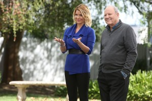 """FACE OFF -- """"Death Becomes Them"""" Episode 912 -- Pictured: (l-r) McKenzie Westmore, Michael Westmore -- (Photo by: Jordin Althaus/Syfy)"""