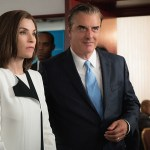 """Payback"" -- Jason employs aggressive investigative tactics when he assists Alicia and Lucca with a student loan case. Also, Howard Lyman alleges ageism at Lockhart, Agos & Lee, pointing to Cary as the primary offender, and Eli stirs up Florrick family drama on Peter's presidential campaign, on THE GOOD WIFE, Sunday, Nov. 1 (9:00-10:00 PM, ET/PT) on the CBS Television Network.  Pictured (L-R) Julianna Margulies  as Alicia Florrick and  Chris Noth as  Peter Florrick  Photo: David M. Russell/CBS ©2015 CBS Broadcasting, Inc. All Rights Reserved"