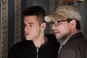 MR. ROBOT -- Pictured: (l-r) Rami Malek as Eliot Alderson, Christian Slater as Mr. Robot -- (Photo by: Peter Kramer/USA Network)