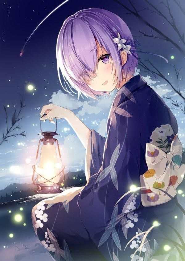 Rain Boy And Girl Wallpaper Fille Kimono Yukata Dessin Necomi