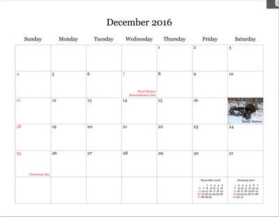 NPC Calendar Sale - sample 2015 calendar