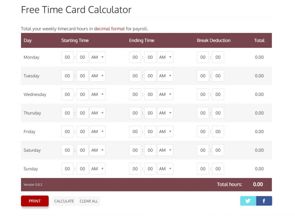 How Time Card Calculator Works? Complete Guide - TweakBiz