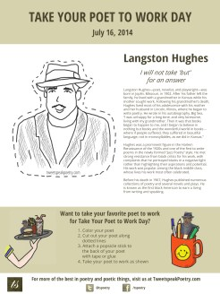Langston Hughes Take Your Poet to Work printable