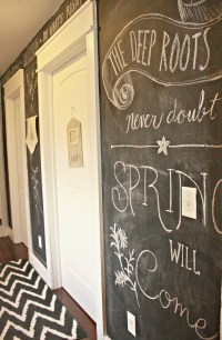 Vintage Green Chalkboard Wall for Fall - Twelve On Main