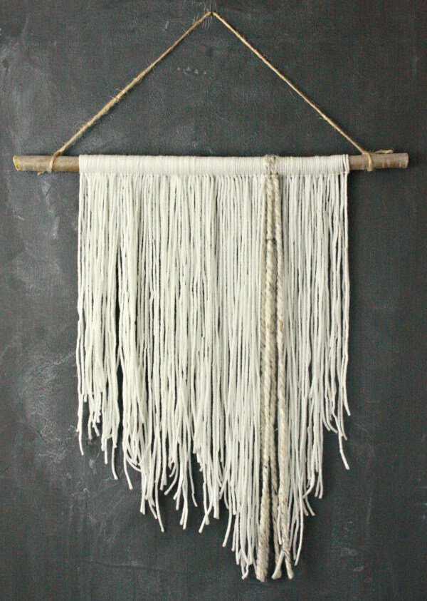 Wall Hanging Decoration Pictures : Diy yarn wall hanging my thoughts twelve on main