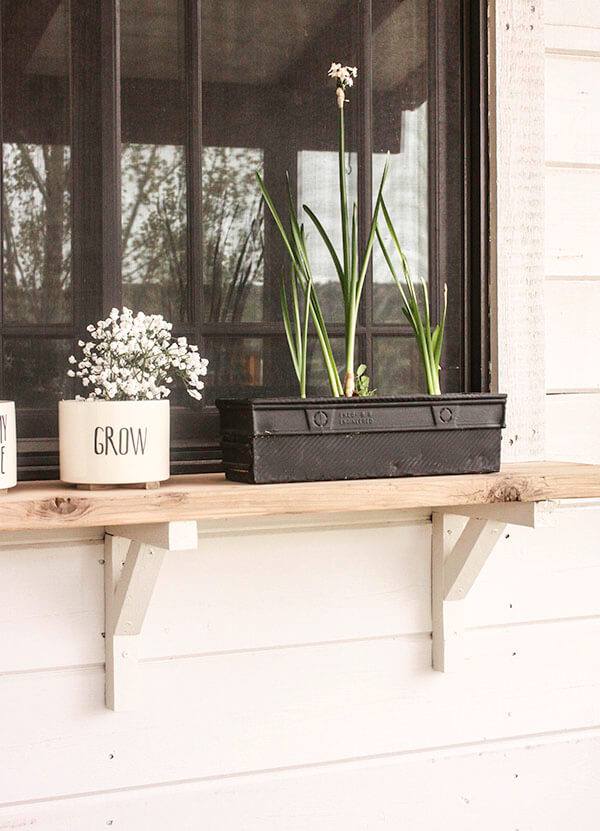 Build an Exterior Window Shelf