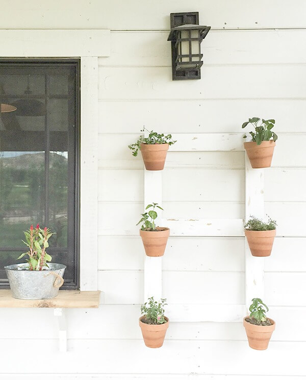 DIY Farmhouse Style Wall Planter