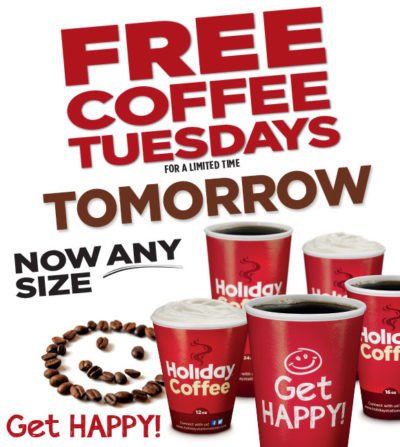 Free Coffee on Tuesdays at Holiday Stationstores (No Purchase ...