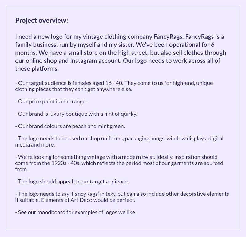 What makes a good project brief? - Twine Blog - project brief template