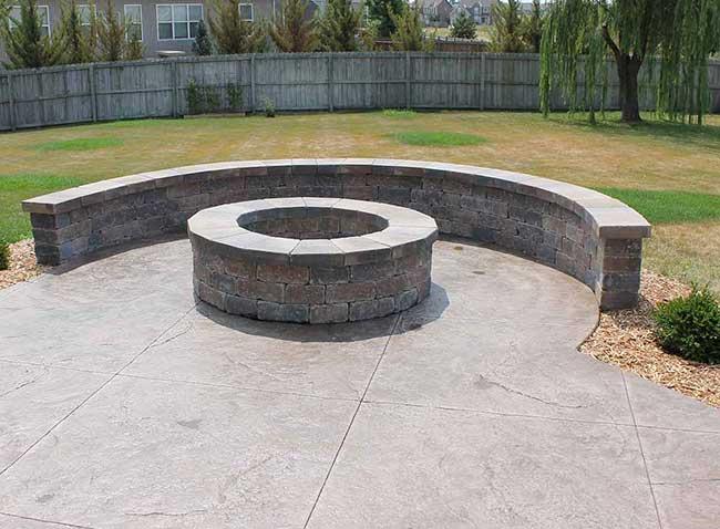 Cement Patio With Brick Edge Patio Ideas
