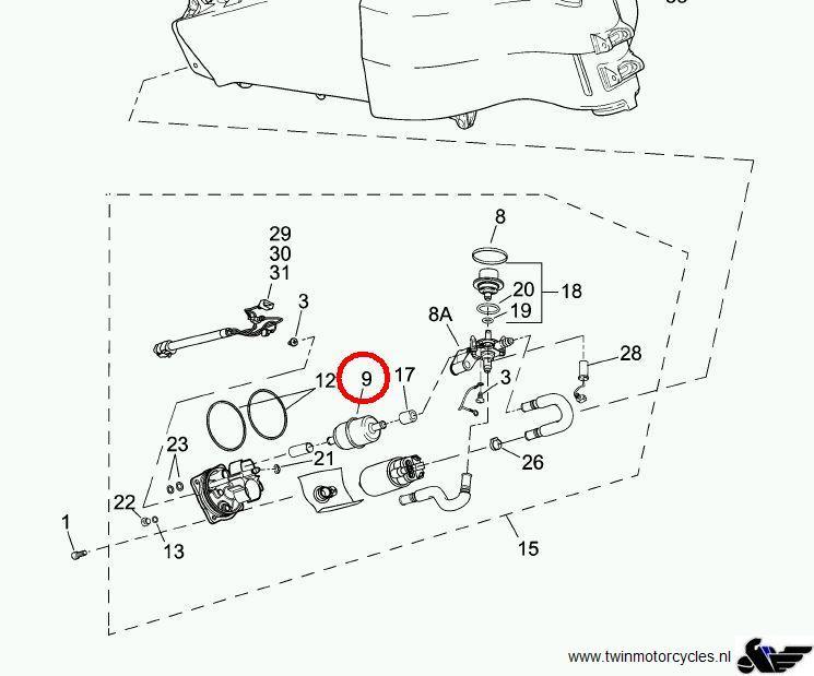 motorcycle inline fuel filter