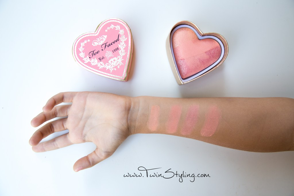 Sweetheart Perfect Flush Blush - Too Faced bellini swatch