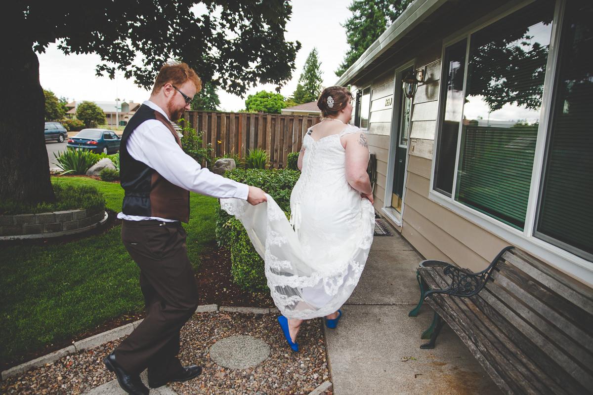 Eva + Eli's DIY Backyard BBQ Wedding