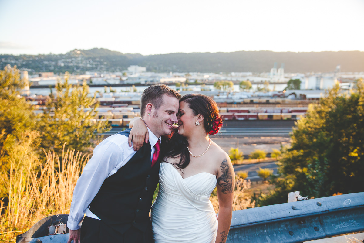 Olivia + Rob's Romantic Metal Wedding