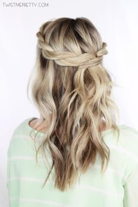 Twisted Crown Braid Tutorial - Twist Me Pretty
