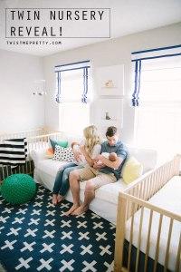 Twin Nursery Reveal - Twist Me Pretty