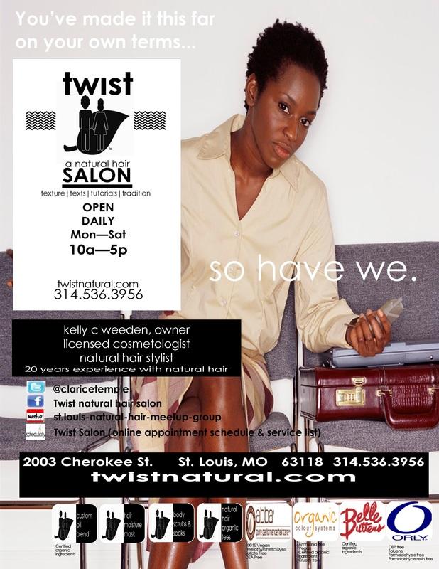 Ads - twist natural hair salon  africatique
