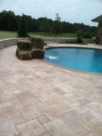 Pool Brick Pavers Alluring Brick Paver Pool Deck ...