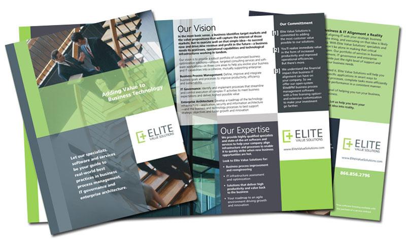 how to design brochure
