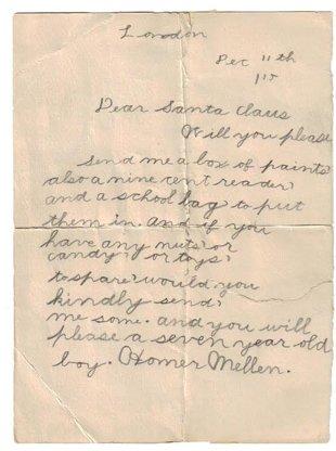 1915 Letter to Santa