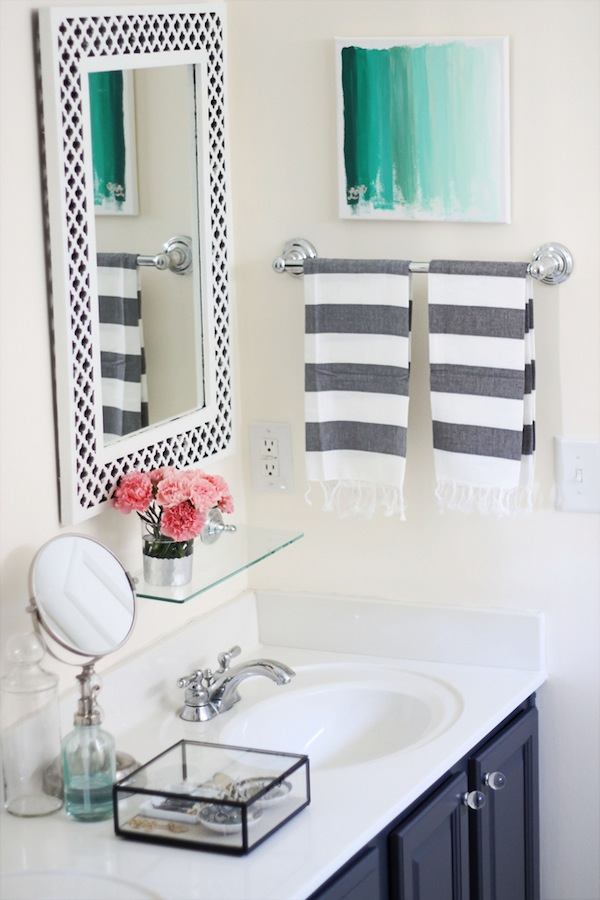 Two Delighted My Painted Bathroom Vanity Before And After