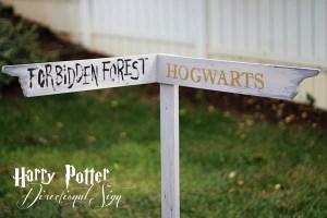 harry potter directional sign diy