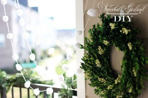 Snowball Garland DIY